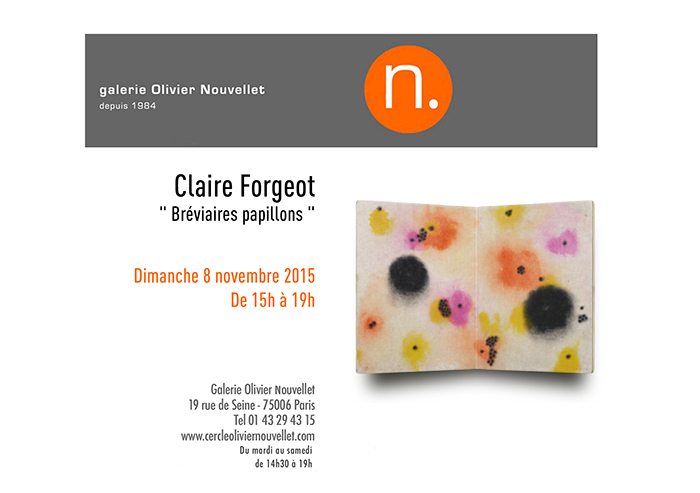 2015 - Galerie Olivier Nouvellet - Paris / France