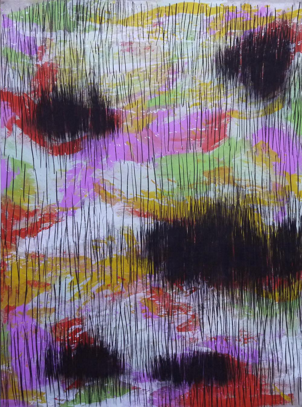 2011 - Paysages, noir brûlé / Black burnt landscape n°4